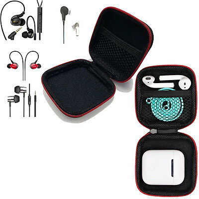 In-Ear Earphones Case Box Size Holder Hard Shell EVA Carrying For Apple Airpods