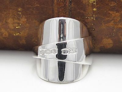 Chunky Inverted Solid Sterling Silver Spoon Ring -Size P
