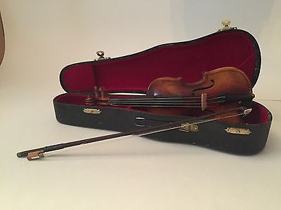 Miniature Violin with Bow and Case Ultra realistic
