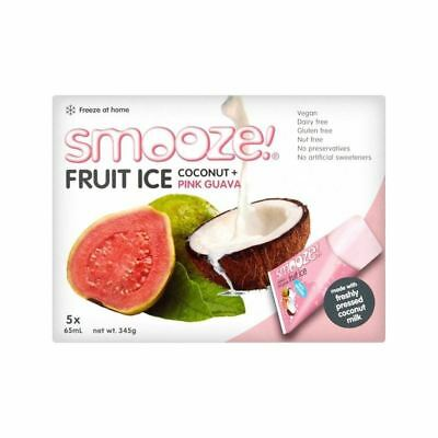 Smooze Pink Guava Fruit Ice Lollies 5 x 65ml