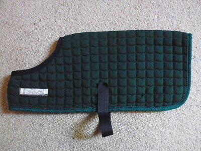 """Thermatex Dog Coat green size 3 or XS or 13"""" Jack Russell Terrier"""