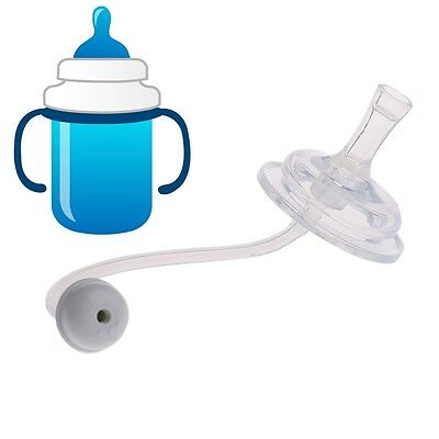 Baby Milk Bottle Wide Mouth Feeder Bottle Silicone Flexible Rotatable Straw Set