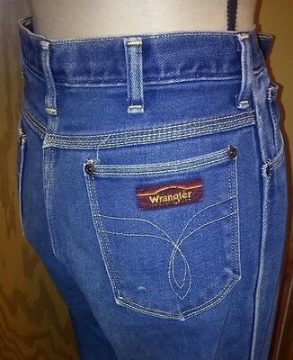 Wrangler VTG Women's Denim Blue Jeans Size 10 or 12 No Tag High Waist Boot Cut