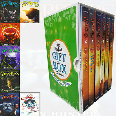 Warriors Power of Three Series 6 Books Collection With Journal Gift Wrapped Slip