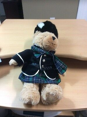 Rare Harrods London Teddy Bear Scottish Piper Bagpipes Knightsbridge Plush  15""