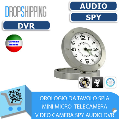 Orologio Da Tavolo Spia Mini Micro Telecamera Video Camera Spy Audio Dvr 520