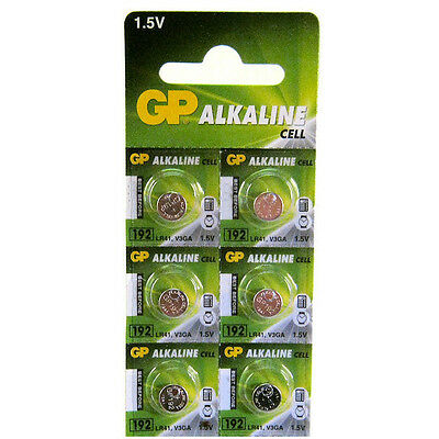 6 x GP 192 LR41 1.5V Batteries GP192 AG3 392 SR41