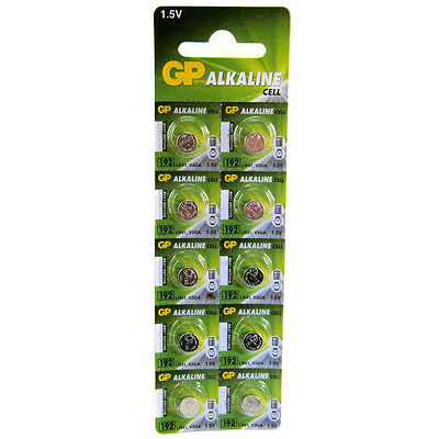 10 x GP 192 LR41 1.5V Batteries GP192 AG3 392 SR41