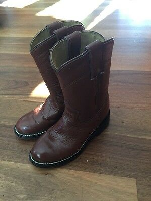 Child's Justin Junior Western Boots Size 8.5D