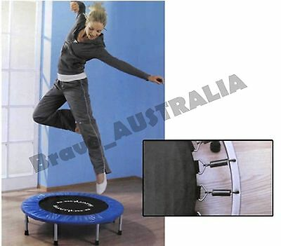 "40"" Mini Trampoline Jogger Kids Fitness Exercise Home Gym Foldable Indoor Tramp"