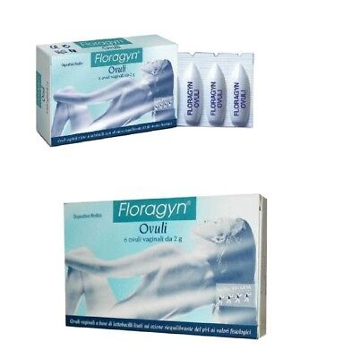 FLORAGYN  Ovuli 2 g.-6 vaginal suppositories. Calms, restores and heals