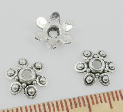 Free Ship 50pcs Tibetan Silver Flower Beads Caps for Jewelry Making 10x3mm