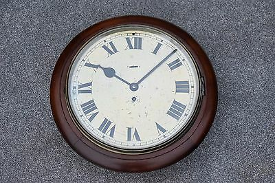 Antique Mahogany Ww2 Naafi Services Smiths Astral 8-Day Wall Clock