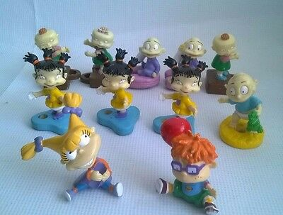 Bundle Of Rugrats Pencil Toppers Cereal Items Tommy Chucky Phil Lil Twins Figure