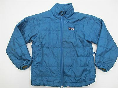 PATAGONIA #J1478 Boys Youth Size XS Warm Zip Up Blue Insulated Puffer Jacket