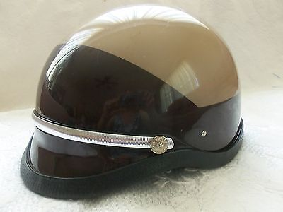 PREMIER CROWN CORP Police Helmet Style C-2 Light Brown / Dark Brown NEW Medium
