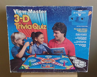 Vintage 3-D VIEW-MASTER Trivial Quiz BOARD Game with VIEW Master