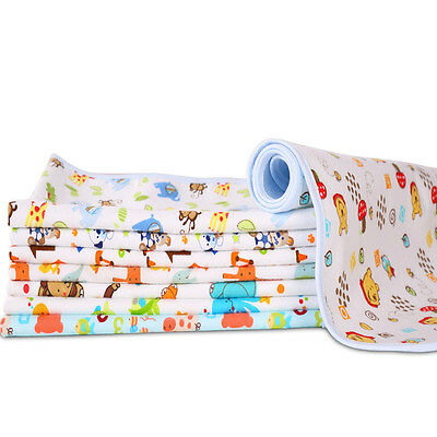 Baby Infant Kid Diaper Nappy Urine Mat Waterproof Bedding Changing Cover Pad New