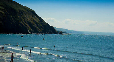1 week holiday Wales Clarach Bay chalet /caravan sea view Cardigan Bay 27 July