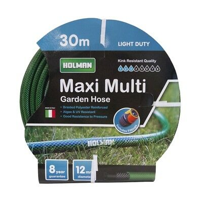 """Water Garden 30M Hose 12MM - 1/2""""  with Holman Fittings 8/10 Kink - Free"""