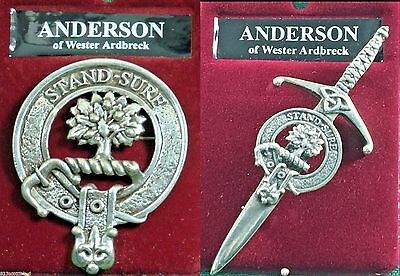 Anderson Scottish Clan Crest Badge or Kilt Pin Ships free in US