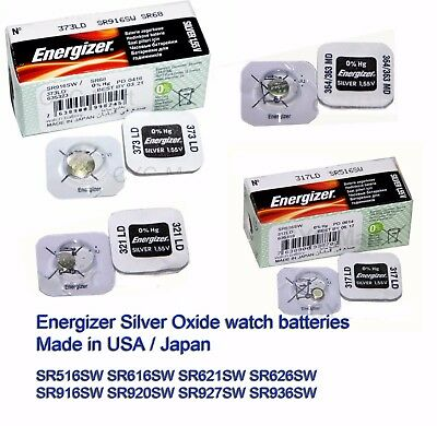 Energizer coin button watch batteries 317 321 364 377 371 394 395 373 FREE POST