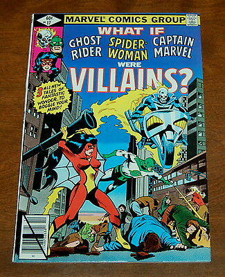 What If #17   Ghost Rider   Captain Marvel   Spider-woman Were Villains NM- 9.2