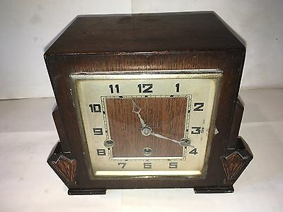 Art Deco Westminster Chime Mantel Clock