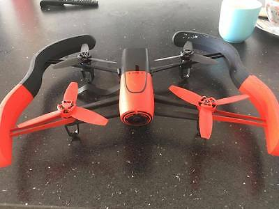 Parrot Bebop 1 Drone - red/black - decent condition! Batteries not included!