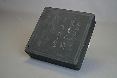 Antique Chinese Ink Stone Cake w/ Calligraphy Duan?