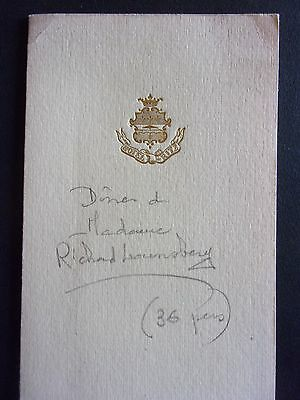 HÔTEL RITZ (Paris) MENU.DINER de Madame Richard LOUNSBERY. 1977. (36 pers.)