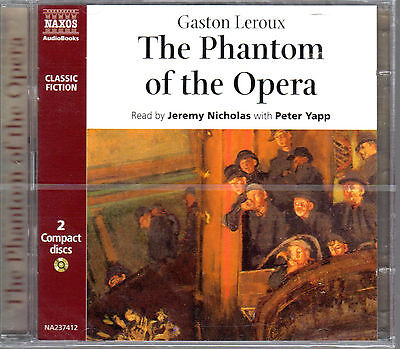 The Phantom Of The Opera Abridged Audiobook 2 CD Set Gaston Leroux Yapp NEW