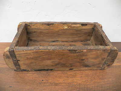 Old Antique Refurbished Wood Wooden Brick Mold Box 9.5 in x 4.5 in Lot 3 ABF