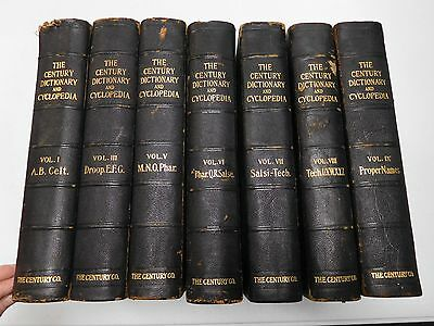 Century Dictionary & Cyclopedia, 1906 - Benjamin Smith ed., 7 Vol.