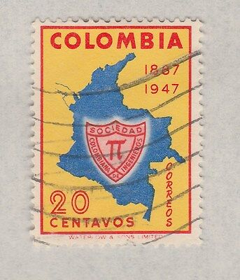 COLUMBIA 1950 on old pages, as per scan, removed to send  #