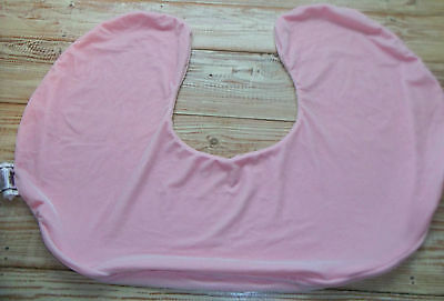 Boppy Pillow Case Cover Pink Stretch Velour Super Soft