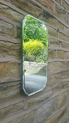 Vintage Retro Antique Art Deco Wall Hanging Frameless Mirror with Chain Vertical