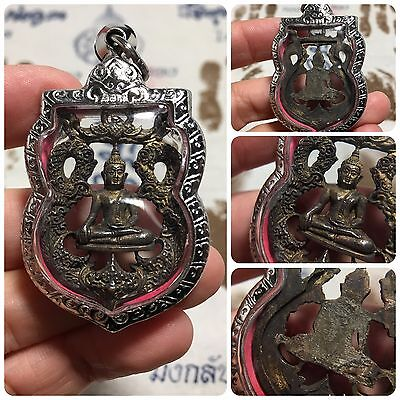 Beautiful Phra Thart Phanom Rahu Laos Thai Buddha Amulet. Luck Success Protect