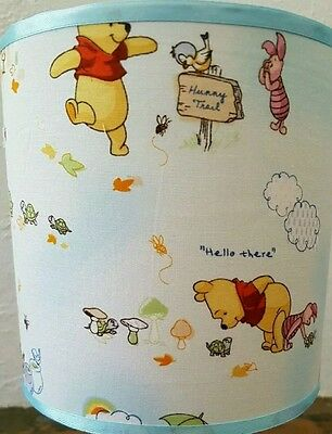 Bedside touch table lamp night light fabric shade winnie poo nursery baby