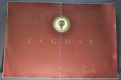 1949-1950 Jaguar XK 120 XK 100 Roadster Catalog Brochure Nice Original
