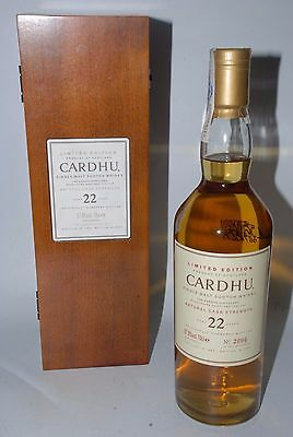WHISKY CARDHU NATURAL CASK STRENGTH 22 YEARS OLD  LIMITED EDITION 2005 70cl.