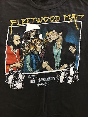 FLEETWOOD MAC 1979 Tour Concert T Shirt True Vintage Tusk Soft Worn Stevie Nicks