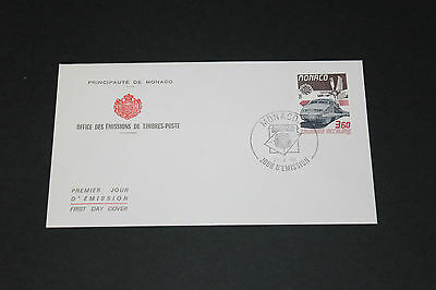 Monaco 1988 Locomotive Trains First Day Cover