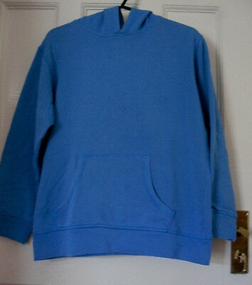 GEORGE GIRLS  BLUE COTTON HOODED JUMPER Age:9-10yrs(GJ01)