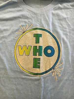 THE WHO Vintage Iron On T Shirt Rare Sparkle Keith Moon Pete Townshend XL Tag