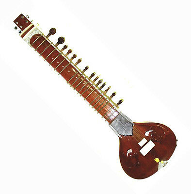LEFT HANDED ACOUSTIC-ELECTRIC SITAR w VOL & TONE CONTROLS & SPARE STRING SET DVD