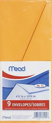 MeadWestvaco 76130 Letter Size Heavyweight Kraft Envelope 9 Count