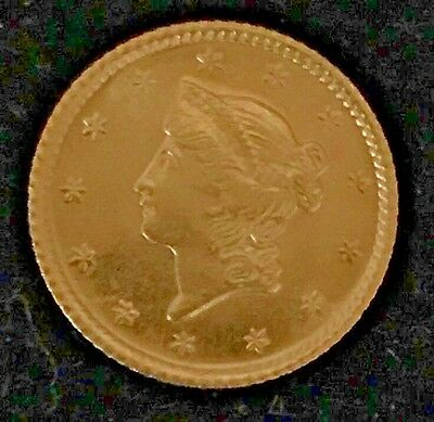 1853 Gold $1.00 Dollar Coin United States