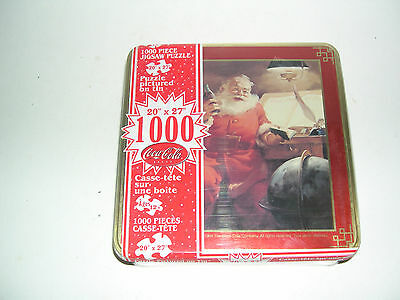 Coca-Cola Santa Puzzle In Tin 1000 Pieces