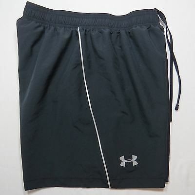 UNDER ARMOUR Womens Heat Gear Fitted Athletic Shorts Lined Black Size M Medium